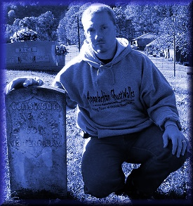 Stacey Allen McGee at Sgt Jessie Rice Grave Site